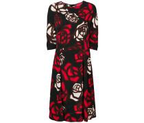 Kleid mit abstraktem Rosen-Print