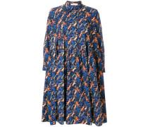 cat print smock dress