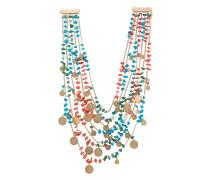 Mehrsträngige Halskette mit Medaillons