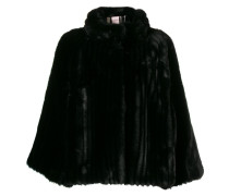 Cape mit Faux Fur