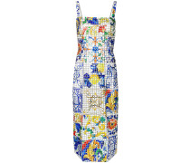 Trägerkleid im Mosaikdesign