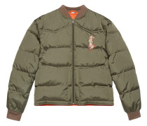 Nylon jacket with rabbit