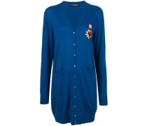 long-line cardigan with Sacred Heart patch - Unavailable