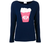 Intarsien-Pullover mit Popcornmotiv