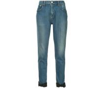 Skinny-Jeans mit Schleifen