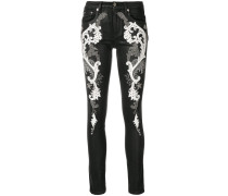 baroque embroidered jeans