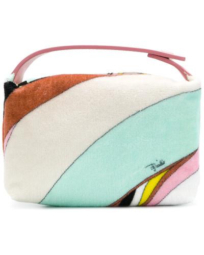 Emilio Pucci Damen Kosmetiktasche mit Print Auslassstellen Verkauf Online Versand Rabatt Verkauf Kaufen Auslass Viele Arten Von O6aHdrO