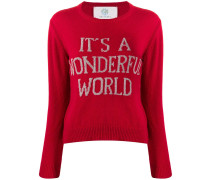 'It's A Wonderful World' Pullover