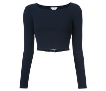 Schmaler Cropped-Pullover