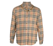 long sleeved checked shirt