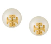 crystal pearl stud earrings