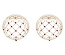 'Globe' Ohrringe mit Kristallen