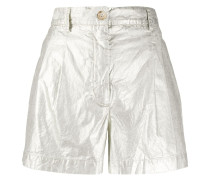 Shorts in Metallic-Optik