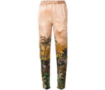 safari print cropped trousers