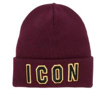"""Wollmütze mit """"Icon""""-Patches"""