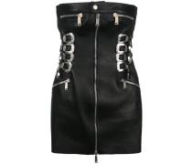 buckle and zip tube dress