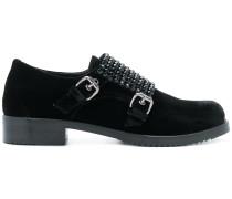 Monk-Schuhe mit Kristallen