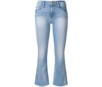 slim-fit flared jeans