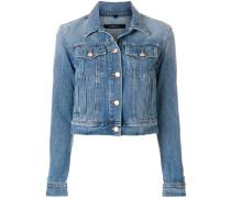 Schmal geschnittene Cropped-Jeansjacke