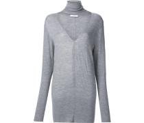 'Deep V Turtleneck' Pullover