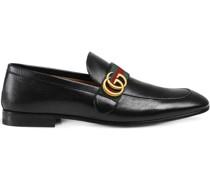Loafer aus Leder mit Webstreifen