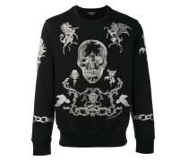 Pullover mit Totenkopf-Print