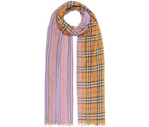 Vintage Check Colour Block Wool Silk Scarf