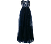 Cannes corset embellished tulle dress