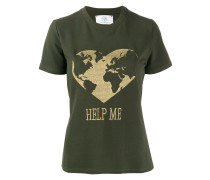 "T-Shirt mit ""Help Me""-Stickerei"