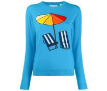 Pullover mit Strandmotiv