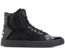 embellished hi-top sneakers