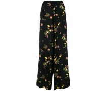 Weite Hose mit floralem Print