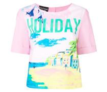 "T-Shirt mit ""Holiday""-Print"