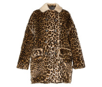 oversized shearling hunting coat