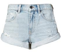 Jeansshorts mit gerolltem Saum
