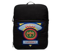 Rucksack mit buntem Logo-Patch