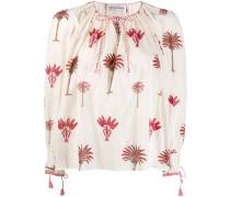 Bluse mit Palmen-Print