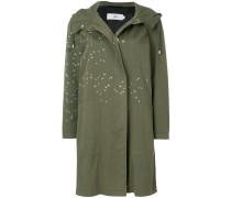 loose hooded coat