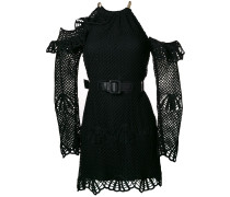 Neckholder-Kleid mit Gürtel
