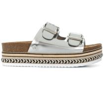 buckled flatform sandals
