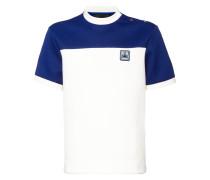Jersey-T-Shirt mit Schulterknöpfen