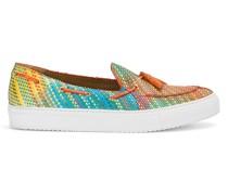 Bestickte Sneakers mit Quasten