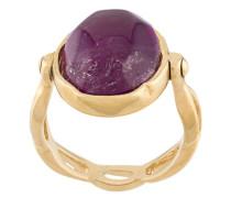 Vergoldeter Ring mit Cabochons