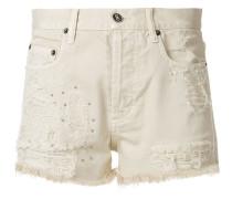 Kurze Jeans-Shorts mit Distressed-Optik