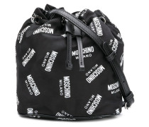 all over logo bucket bag
