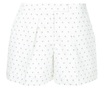 micro-print pleated shorts