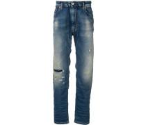 Schmale Jeans in Distressed-Optik
