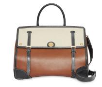 Mittelgroße Handtasche mit Canvas
