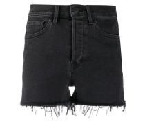 Hoch sitzende Jeansshorts