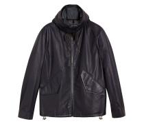 Paper-light Lambskin Hooded Jacket